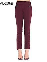 Women's Bodycon/Plus Sizes Pants Inelastic Blue/Red/Black/Green
