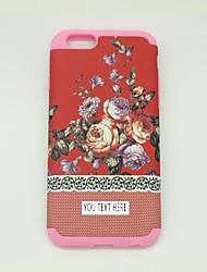 personlized telefono caso - fiore sillicone rosso per iPhone 6