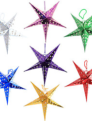 Three-dimensional Five-pointed Star Christmas Lampshade(Random Color,50CM)