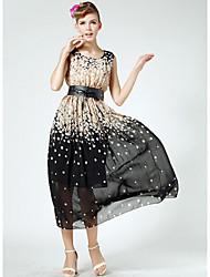 Q.S.H Women's All Match Floral Print Dress