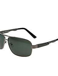 Óculos de Sol Homens's Clássico / Leve / Retro / Vintage / Esportivo / Polarized Aviador Cinzento Escuro Óculos de Sol / Condução-Rim