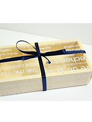 Translucent English Letters Macarons Box Set Of 6 (Not Including The Ribbon)