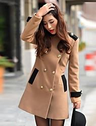 Women's Double-breasted Lapel Wool Coat
