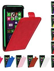 Для Кейс для Nokia Флип Кейс для Чехол Кейс для Один цвет Твердый Искусственная кожа NokiaNokia Lumia 1020 / Nokia Lumia 830 / Nokia