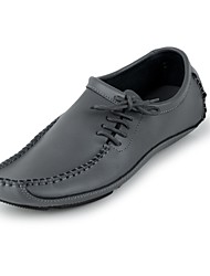 Men's Shoes Casual Leatherette Loafers Black/White/Gray