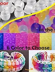 ca. 100pcs uv Farbwechsel 6x8mm Pony Perlen Regenbogen Farbe Webstuhl Gummibänder Armband DIY Zubehör
