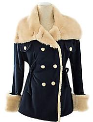 damesmode nieuwe Koreaanse linnen slanke dunne double-breasted preppy chic jas jas