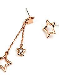 Fashion Asymmetric Pentagram Earrings