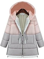 Frauen Langarm-Kapuzenpullis Zip Verschönerung outwear