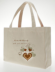 Gifts Bridesmaid Gift Personalized Heart Design Canvas Bag