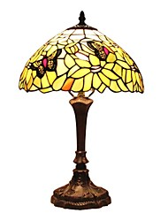 110-120V Tiffany Table Lamp With Butterfly