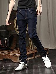 Men's Solid Pant,Cotton Blend / Denim Casual