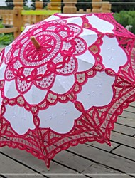 "Wedding / Beach / Daily / Masquerade Lace / Cotton Umbrella 26""(Approx.66cm) Metal / Wood 30.7""(Approx.78cm)"