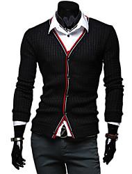 Novo estilo de negócio dos homens Fengshang E Casual duas peças como camisa preta