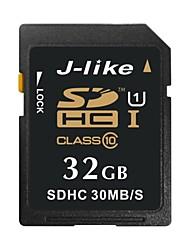 J-Like 32Go Classe 10 / UHS-I U1 SD/SDHC/SDXCMax Read Speed30 (MB/S)Max Write Speed15 (MB/S)