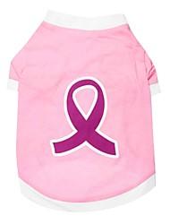 Voor alle seizoenen - Roze Katoen - T-shirt - voor honden / katten - XS / M / L