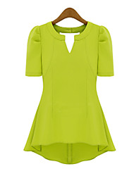 Mufans Women's Chiffon Candy Color T Shirt 1376#