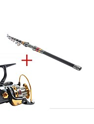 2.7 Carbon Sea Fishing Medium Fishing Rod & Reel Combos Fishing Reel YB5000 Spinning Fishing Reels