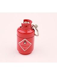 Creative Metal Mini Gas Bottle Pendant Lighter Red