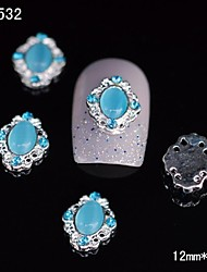 10pcs 3D Blue Eye Alloy Nail Stone Sticker DIY Nail Art Decoration