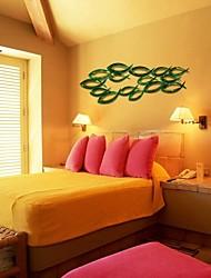 bellabello®metal arte da parede parede decoração, estilo contemporâneo, peixes tropicais de ferro forjado parede decoração