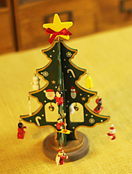 8.8inch Christmas Ornaments Christmas Tree Green ,Wooden