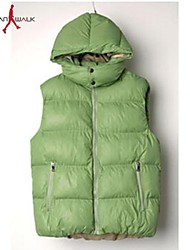 MANWAN WALK®Men's Casual Slim Candy Color Down Jacket without Sleeve.
