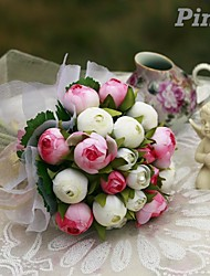 Lovely Small Bud Hand-tied Satin Bridal Wedding  Bouquets
