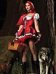Costumes de Cosplay / Costume de Soirée Déguisements Thème Film/TV Fête / Célébration Déguisement Halloween Rouge Mosaïque Robe / Châle