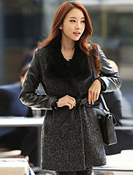 moda coreano abrigo largo de Qianyun mujeres