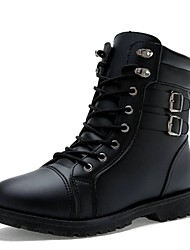 Men's Shoes Motorcycle Boots Flat Heel Ankle Boots