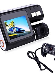 2.0 Inch TFT Dual Lens Car Camcorder i1000 1280x720P 170 Degree With Night Vision G-sensor