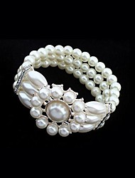 European Style Elegant Pearl Elastic Bracelet
