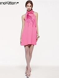 vestido de lentejuelas obra de cuello halter atractivo de la mujer joannekitten®