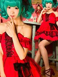 Vocaloid Hatsune Miku Lolita Red Christmas Costume