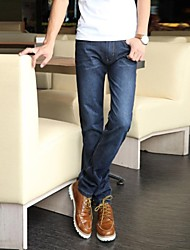 Men's Solid Casual / Work / Formal / Sport Jeans,Cotton / Denim Blue