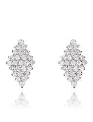 cadeaux roxi classiques autrichiens authentiques blanc éclatant cristaux de zircon pendentif boucles d'oreilles en forme de losange de femmes (1