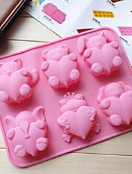 Love Animals Cake Mold Ice Jelly Chocolate Mold,Silicone 26.1×20.2×2.5 CM(10.3×8×1 INCH)