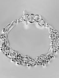 Uyuan Women's 925silver Delicacy Silver Ornament Bracelet