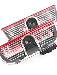 2 x Cree Autotürlicht Geister Projektor Emblem für vw golf 6 gti mk5 jetta mk6 cc tiguan Passat B6