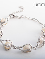 Women's Water Drop Shaped Pearl Bracelet