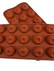 15 Loch Augenform Kuchen Eis Gelee Schokoladenformen, Silikon 21,5 x 10,5 x 2 cm (8,5 x 4,1 x 0.8inch)
