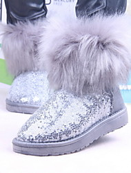 Women's Shoes Flat Heel Faux Fur Ankle Snow Boots with Sequin More Colors available