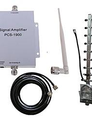 pcs 1900MHz reforço de sinal kit antena de telefone celular amplificador repetidor 500m² novo
