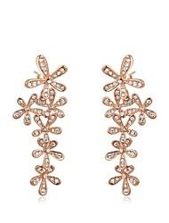 fleur de la mode de roxi véritable cristal autrichien champagne chute en alliage de zircon boucle d'oreille des femmes (1 paire)