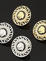 plateado elegante 18k medusa vendimia oro grueso cristal pendientes de platino esmalte espárrago rhinestone para las mujeres de alta calidad
