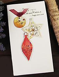 estereoscópica cinta parche acuarela hermosa tarjeta de Navidad