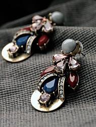 Manluo Western Style Fashion Alloy Ear Stud Earrings