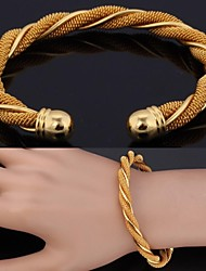 pulsera u7® joyas brazalete del partido redondo para mujeres / hombres nueva moda de platino / oro verdadero 18k plateó