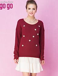 suéter de impresión de las mujeres lagogo